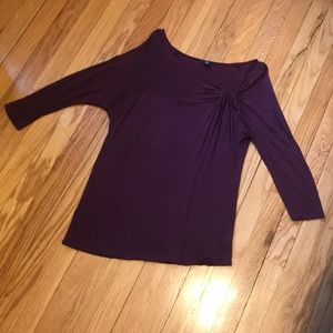 Gap purple long sleeve shirt with decorative front